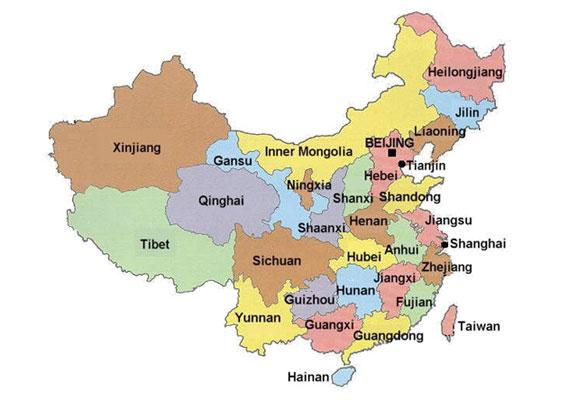 Map of china - ... China
